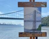 Original Oil Painting | Plein Air Painting | George Washington Bridge