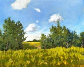 Original Oil Painting | The Meadow Landscape Painting