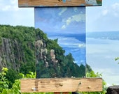 Original Plein Air Oil Painting | Lively and Vibrant New Jersey Cliffs Painting