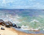Original Oil Painting | Vibrant Sea Bright NJ Oil Painting