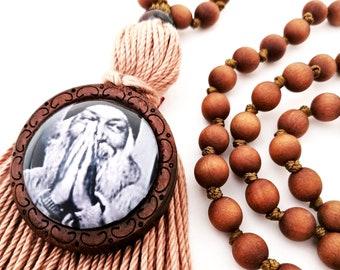 Osho - Osho Japa Mala - Osho Pendant - Bhagawan shree Rajaneesh - Japa Mala - Custom Length Mala