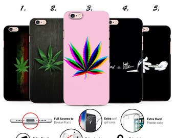 smoking with a paper bag in the rain funny iphone case