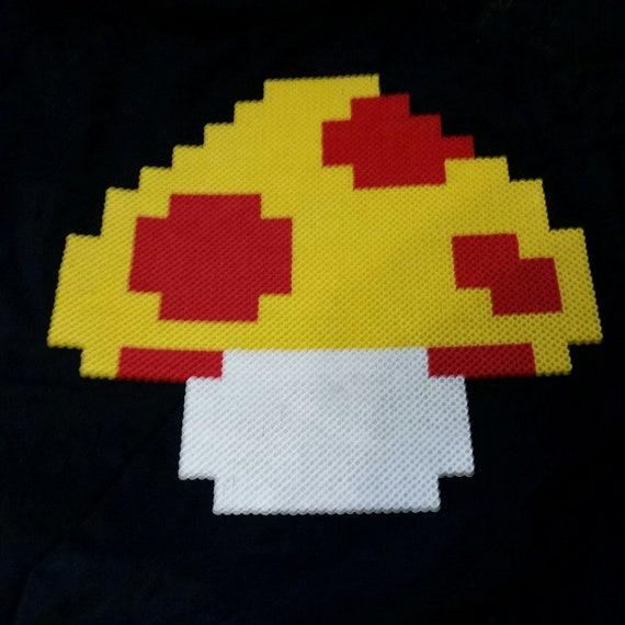 Super Mario Bros Mushroom Sprite Pixel Art Perler Over 9 Etsy