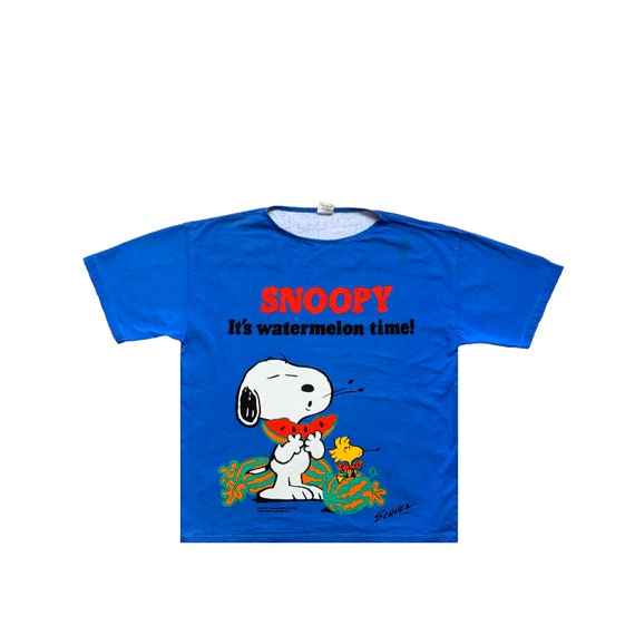Movie Cartoon Network Snoopy Vintage Big Logo Time
