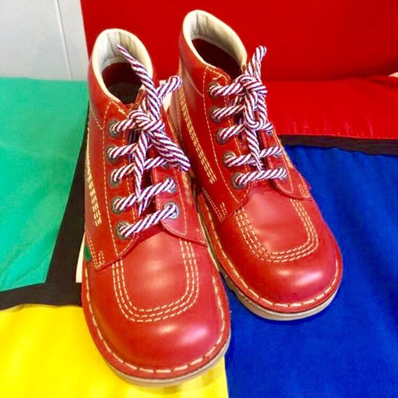 Red Kickers Ankle Boots. Barely Worn. U.K. size 4