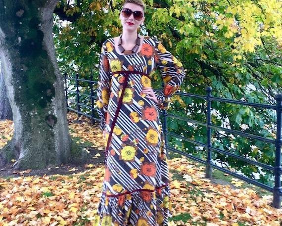 Rare 60s 70s Maxi dress from Marisa / Kitty Copela