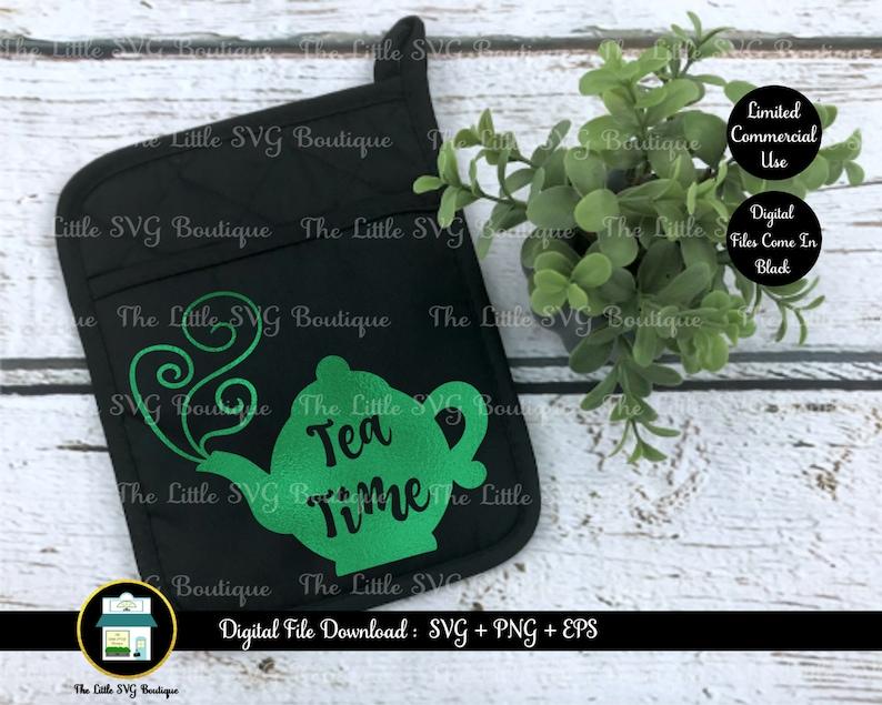 cut file png design digital file Tea Time eps svg instant download