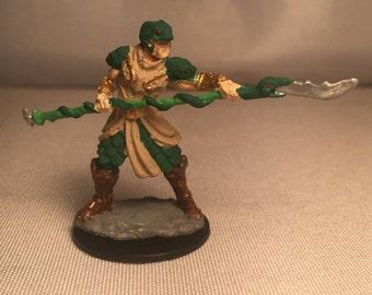 Painted Yaun Ti Snake Man Fighter Dungeons and Dragons Miniature