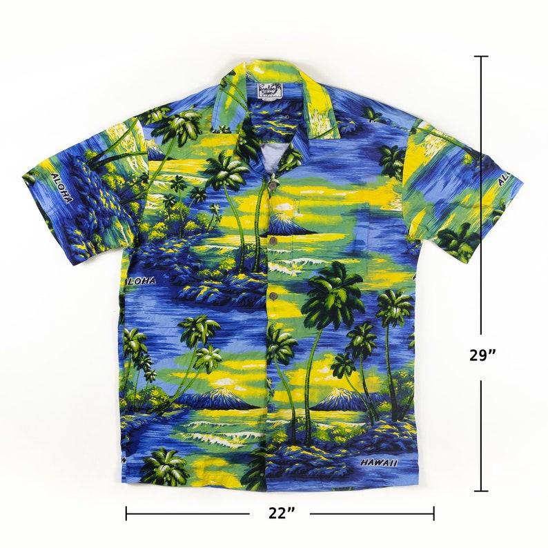 1970s Vintage Paradise Hawaii Made Tropical Shirt M Sz