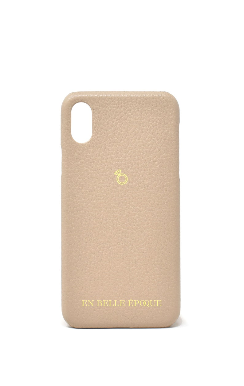 Bridal Gift Monogrammed XS Max; XR; XXS; 78 Plus; 78 Genuine Pebble Leather iPhone Case