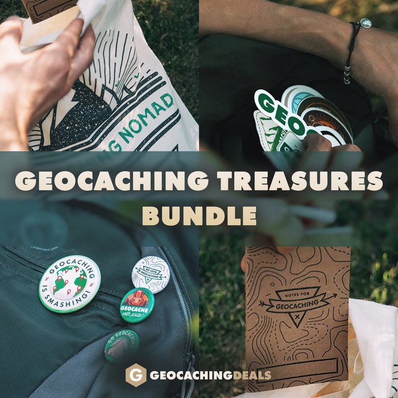 Geocaching Treasures Bundle  Very Limited Edition 50 pcs of image 0
