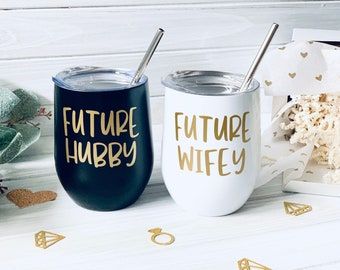 Future hubby future wifey just engaged ~ engagement Couples engagement gift