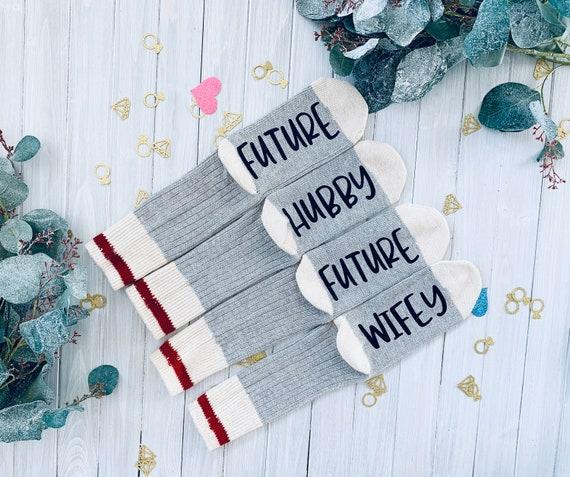 Wedding Gift Husband Wife Socks Couple Gift Gift for Both Soon to be Wifey Hubby Wifey Couple Socks Socks Soon to be Hubby