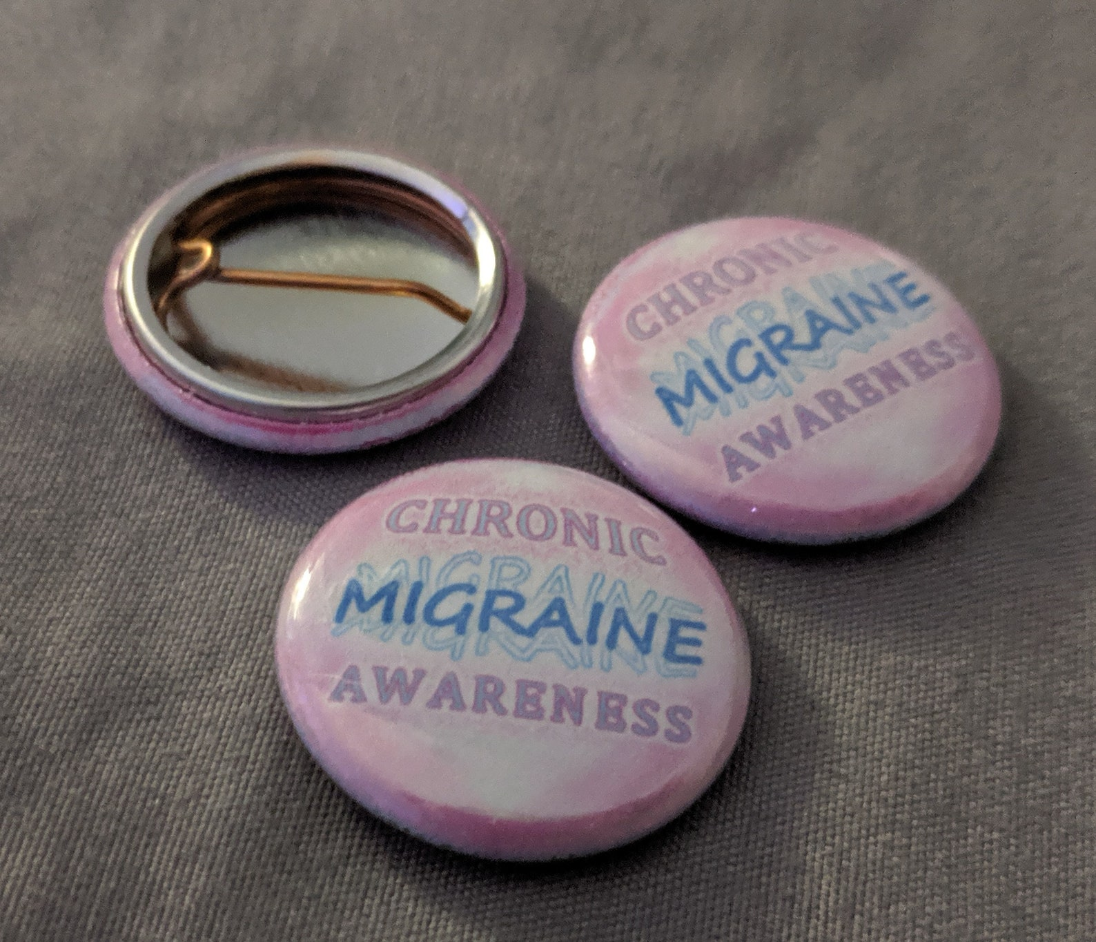 Pin-Back Buttons ~ Chronic Migraine Awareness