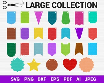 22 Svg Bunting Banners Svg Bunting Banner Flag Svg Pennant Etsy