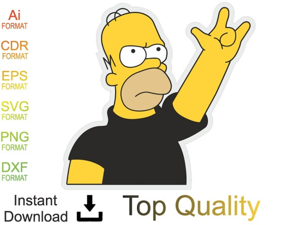 Simpsons Svg Color Svg Simpsons Clipart Png Jpg Eps Etsy