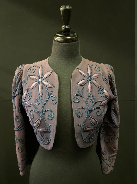 1930's Embroidered Bolero Jacket