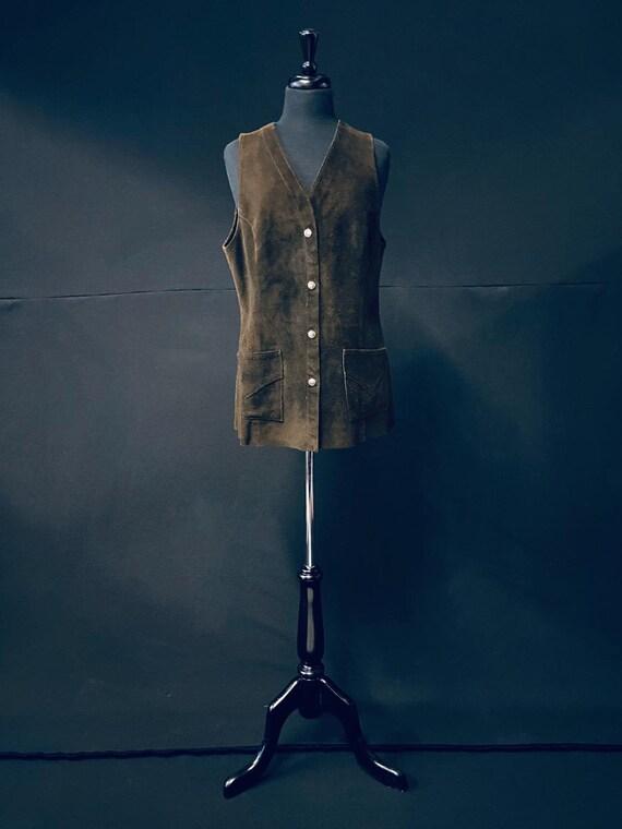 1970's Sued Mini Dress Waistcoat