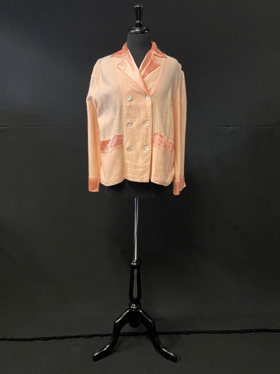 1930's Art Deco Peach Boudoir Jacket