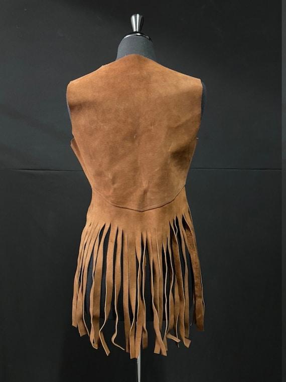 Iconic 1970's Brown Suede Fringe Vest - image 2