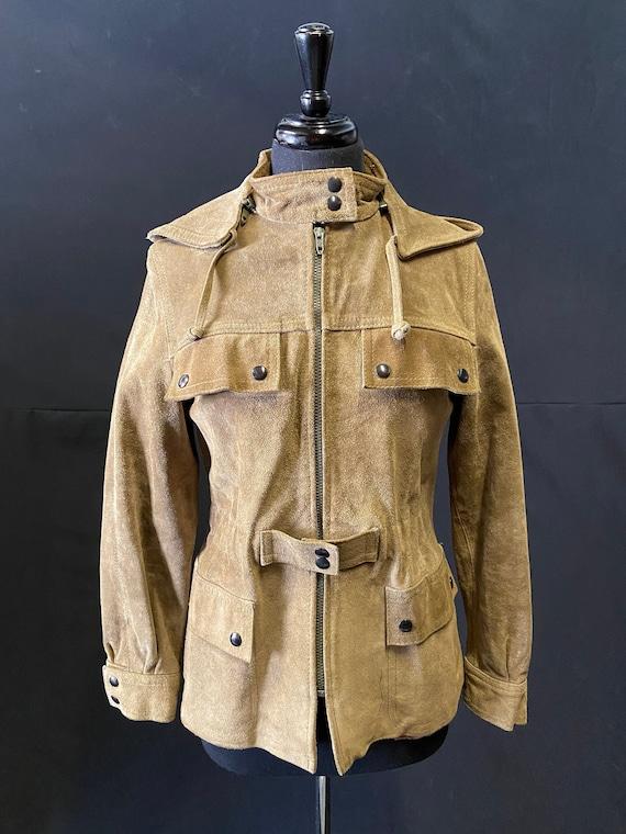 1970's Suede Safari Style Jacket