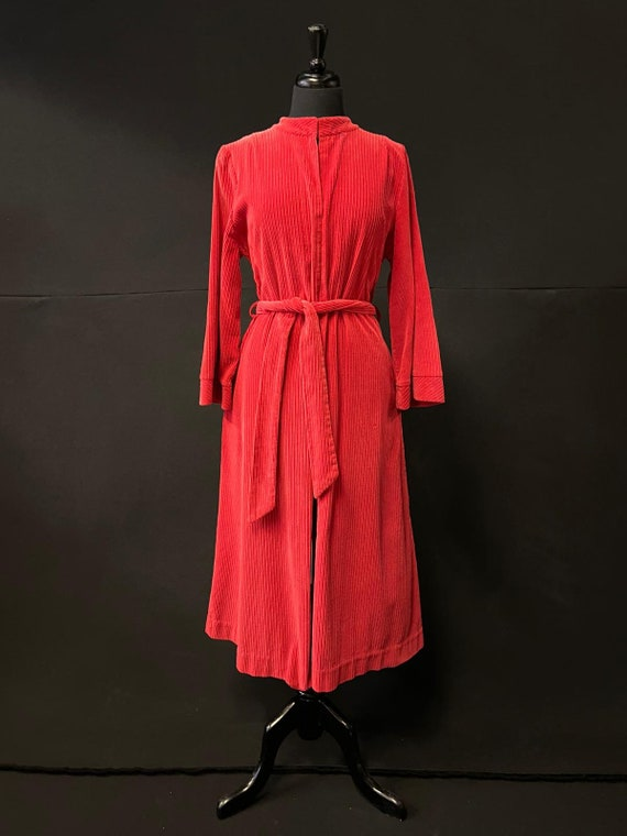 1940's Red Corduroy Swing Coat
