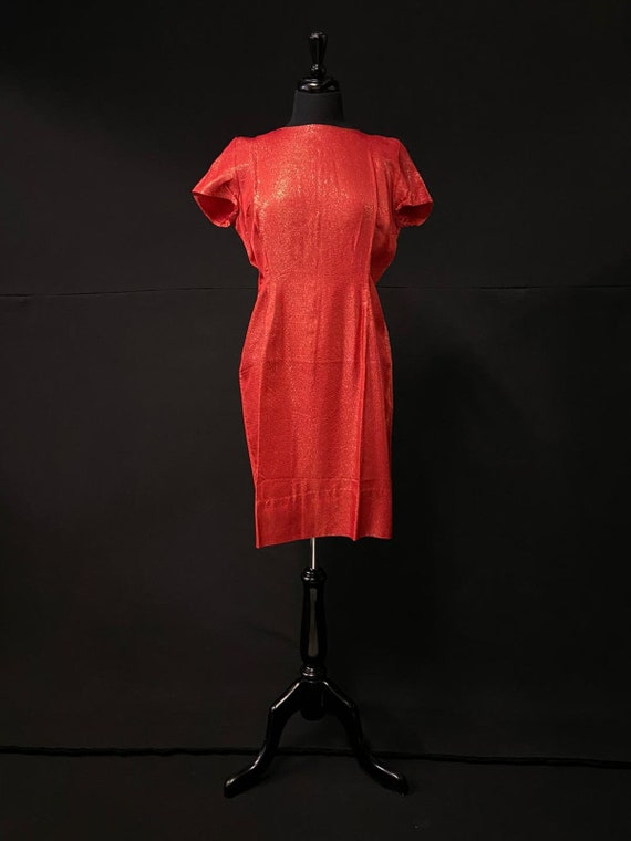 1960's Red Evening Dress