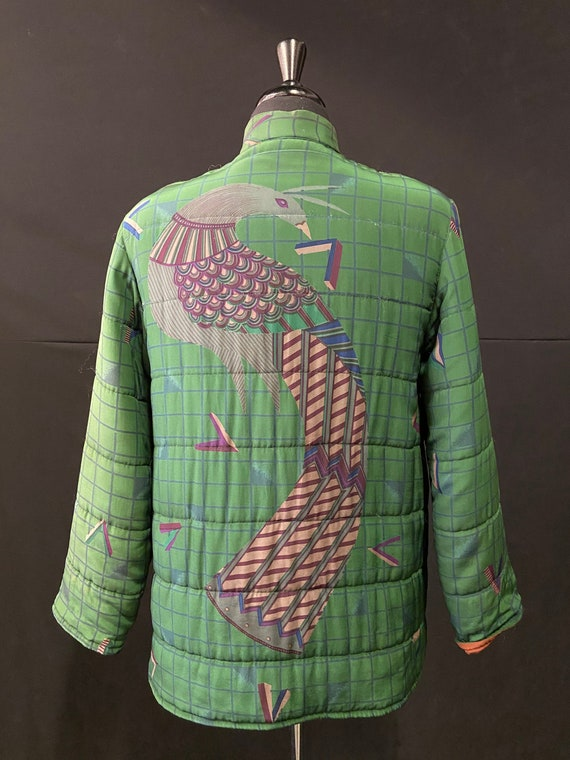 1970's Quilted Silk Peacock Jacket