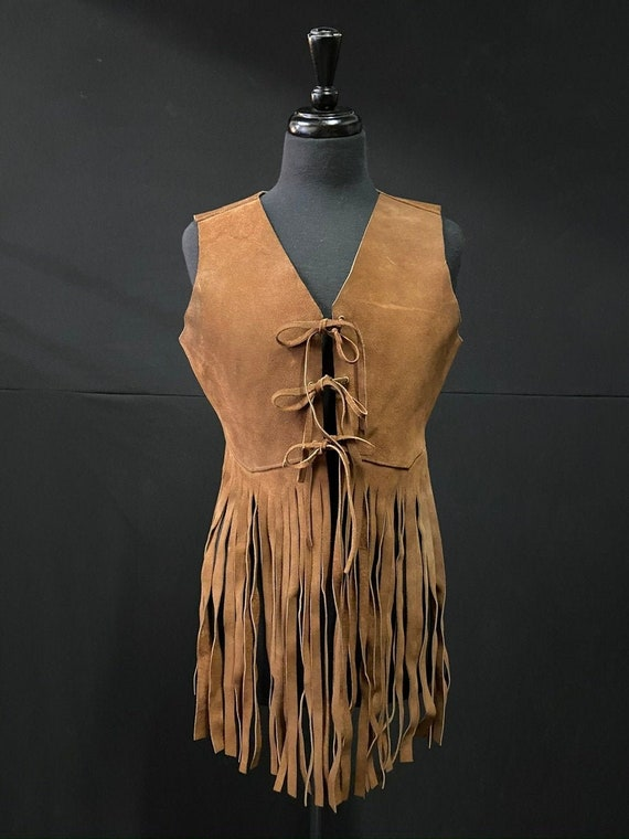 Iconic 1970's Brown Suede Fringe Vest
