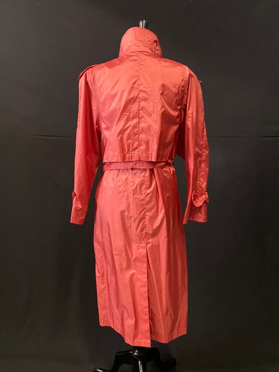 Pink Nylon Raincoat - image 2