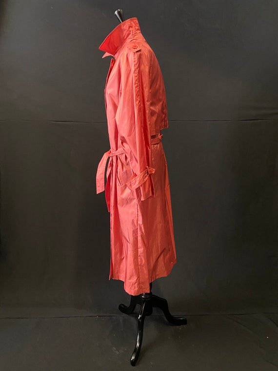 Pink Nylon Raincoat - image 3