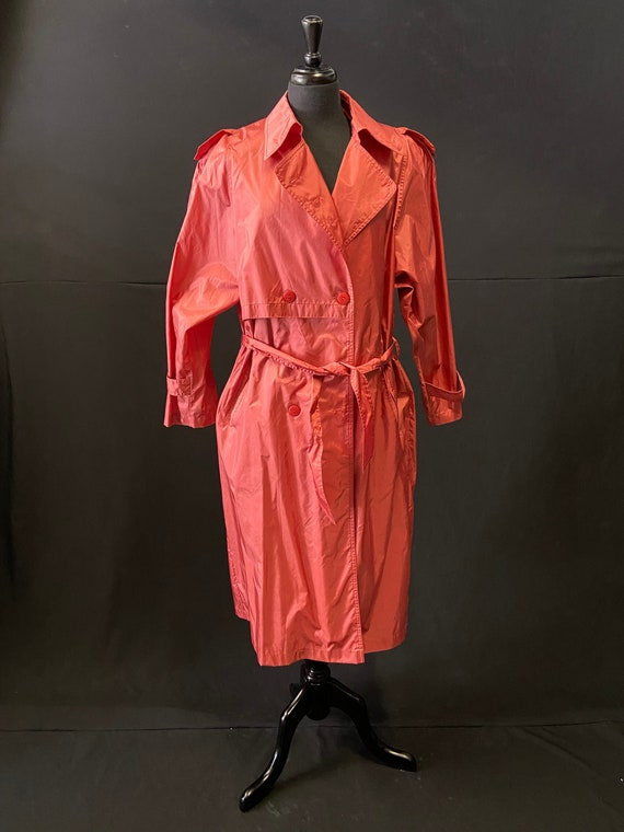 Pink Nylon Raincoat - image 1