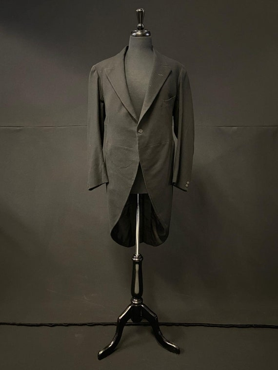Edwardian Morning Coat c1910. Sydney A Bailey - Wo