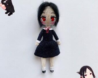 Crochet anime chibi doll amigurumi doll Love live Nico anime figure Handmade miniature doll