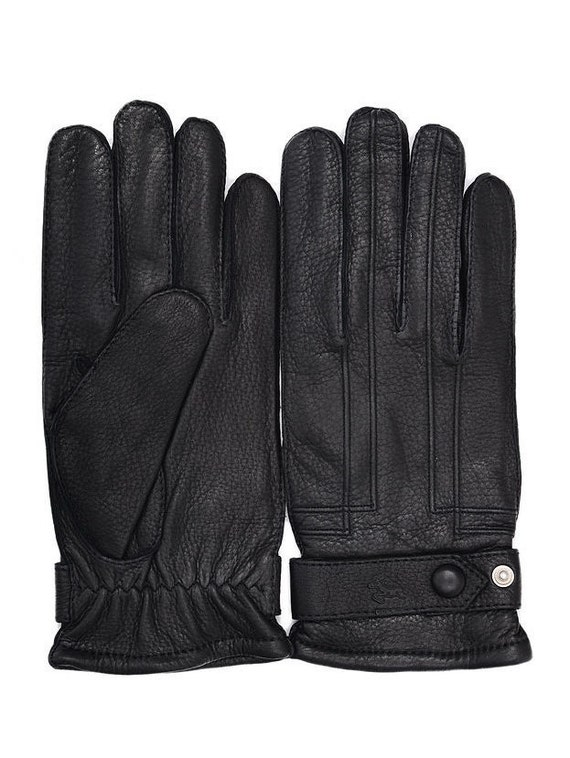 Gorgeous 70s gloves made in Italian tone leather deerskin gloves from 50s super luxury fashion