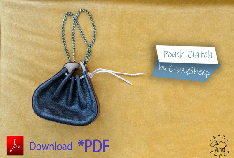 Elegant evening bag. Download a PDF template for this bag and image 0