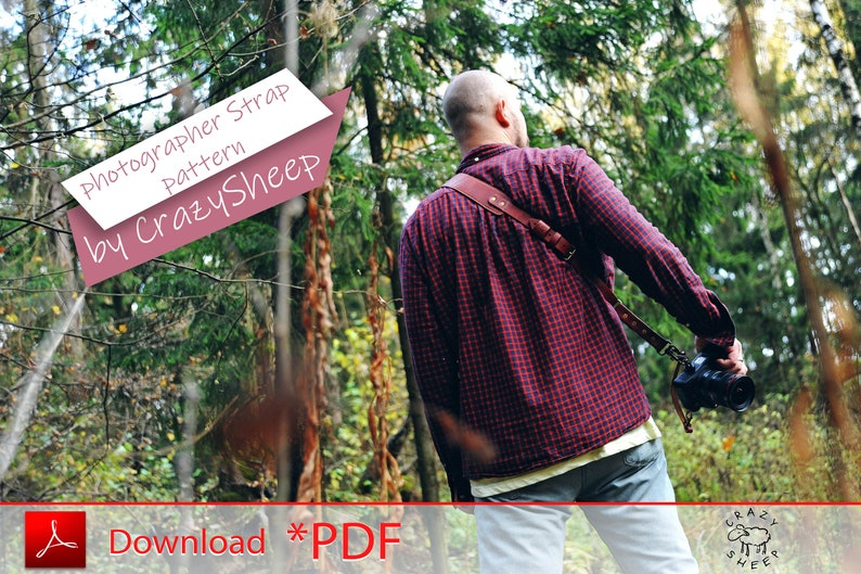 Shoulder strap pattern for the photographer. Comfortable image 0