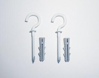 Fixing set for hanging clothing rack Hiroba | screw hooks + dowels