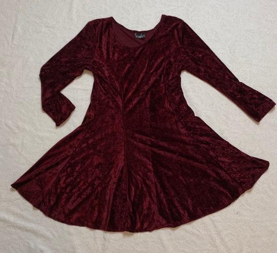 Vintage 90's Velvet Skater Dress