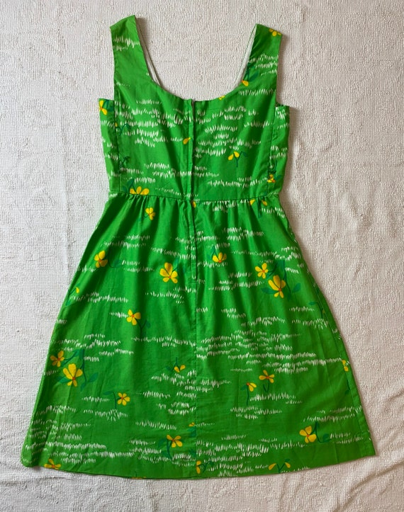 Vintage 1970's Malia Honolulu Green Hawaiian Dress - image 3