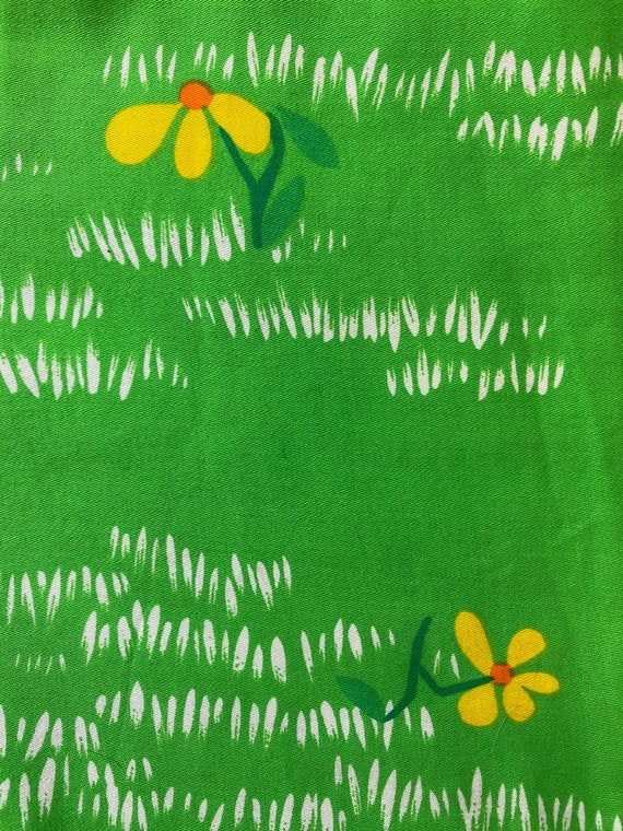 Vintage 1970's Malia Honolulu Green Hawaiian Dress - image 2