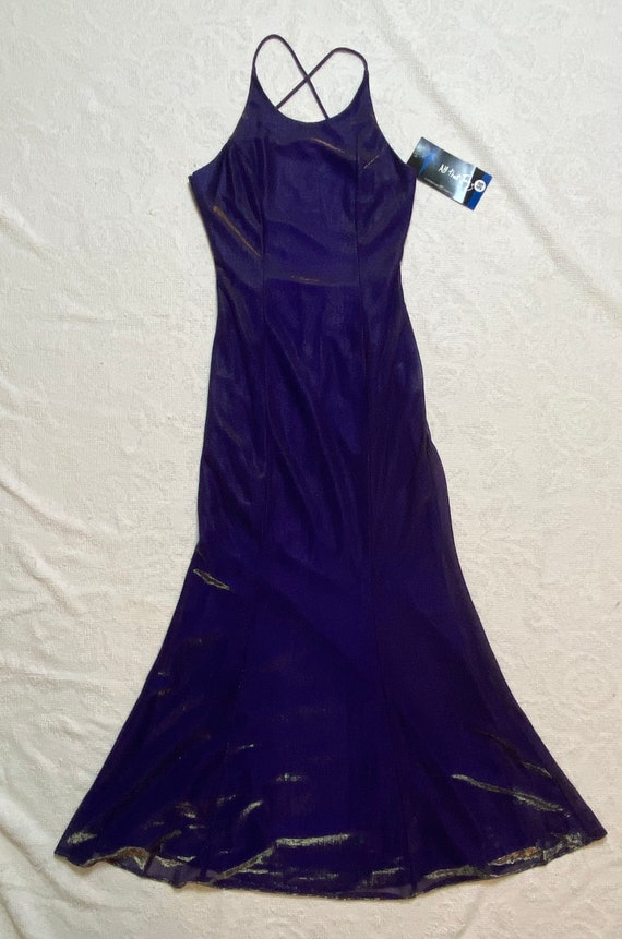 Vintage All That Jazz Purple Shimmery Party Dress