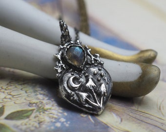 sterling silver mushroom toadstool ring hand carved  elvish leaf branch twig moon band witchy forest nature inspired woodland botanical