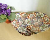 Vintage Cocema Fes Morocco Imari Design Plate - Birds Of Paradise