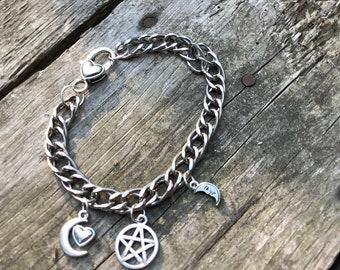 Witch Pentacle Charm Bracelet