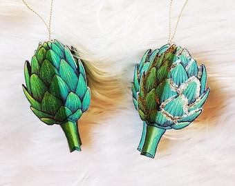 Printable paper artichoke, DIY vegetable home decor, Veggie paper craft print, Spring nursery room or kitchen decoration, Digital download