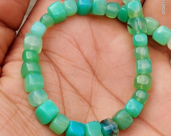 Chrysoprase Beads Chrysoprase Cube  Smooth Beads Jewelry Beads Chrysoprase 6/'/' Inches Full Strand Natural Gemstone Beads