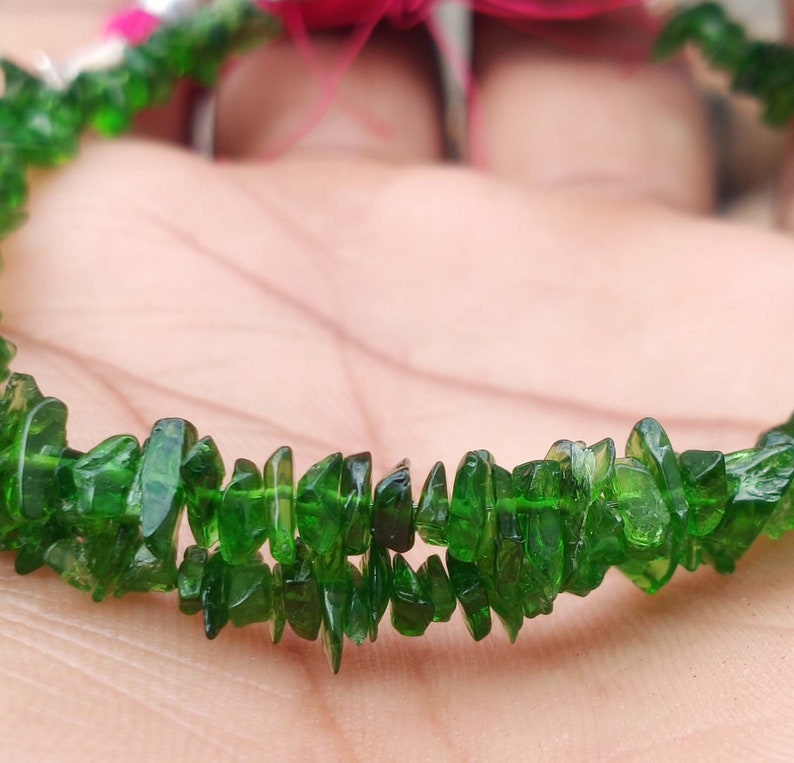 Full Strand So Gorgeous Smooth Rough 8/'/' Inches Strand Chrome Diopside 30 Cts
