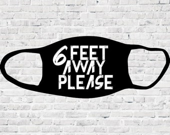 Stay Six Feet Away What Pandemic? Wooden Letter Quote home decor funny humorous gift. 6x6\u201d frame