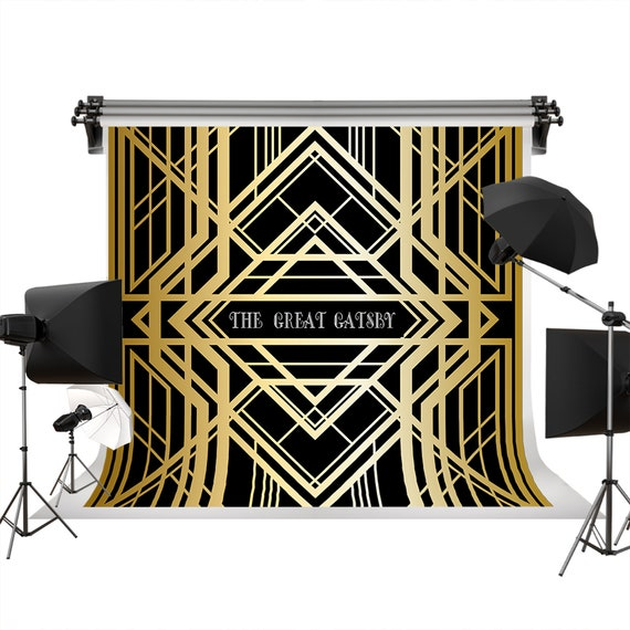 Photo Booth Studio Props LYLU1139 Golden Gatsby Theme Retirement Party Backdrop for Photography Relax New Adventure Awaits Banner Background 9x6FT